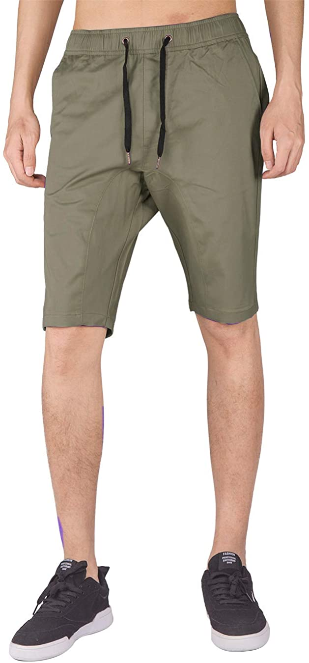ITALY MORN Jogger Shorts for Men Elasticated Waistband Slim Fit