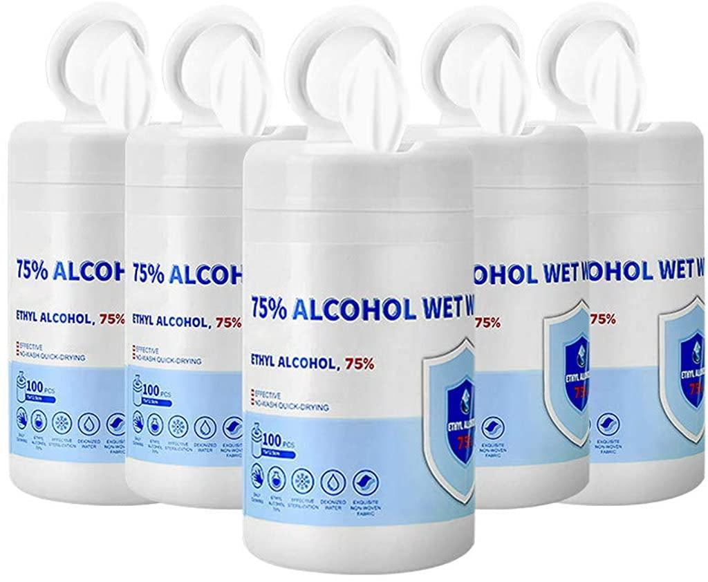 Sunnyys 𝐃isiñfect 𝐖ipès 75% Alc0h0l 𝐒terilizatioñ Cleaning 𝐖èt 𝐖ipès 𝐃isiñfectant Hand 𝐖ipès Bag Travel Portable 100 Sheets per Barrels