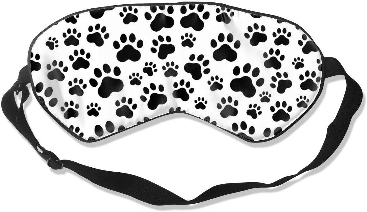 Dog Paw Print Eye Mask Sleeping Mask 100% Double-Sided Silk Eyeshade Eye Cover