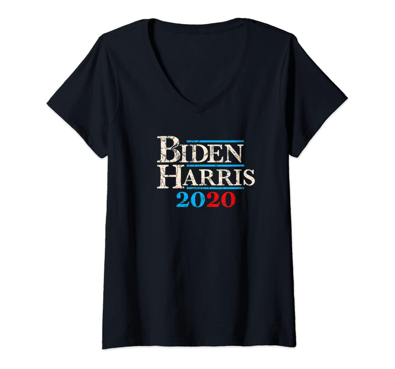 Womens Joe Biden Harris 2020 Vintage V-Neck T-Shirt