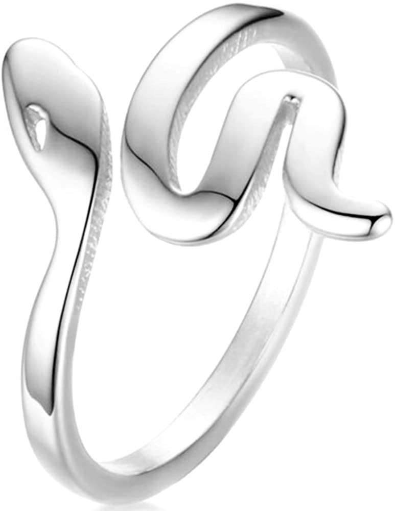 Jude Jewelers Stainless Steel Snake Style Wedding Band Promise Anniversary Statement Ring