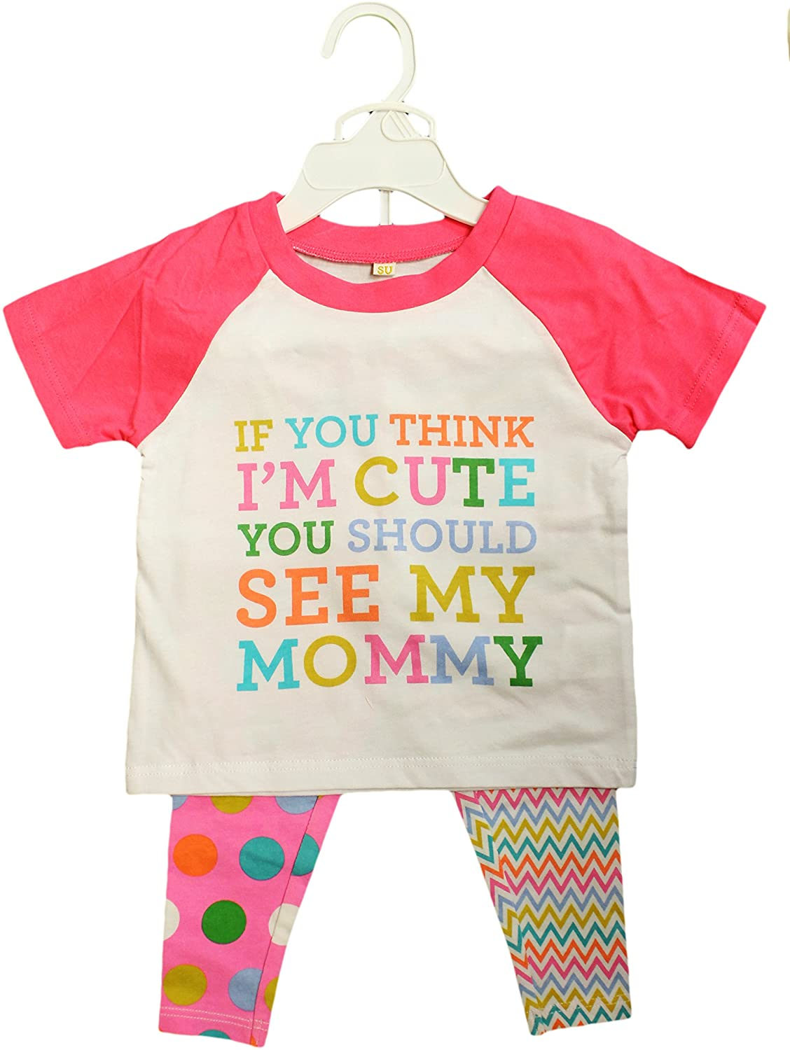 Baby-Girls 12 Months If You Think Im Cute You should See My Mommy 2-Pc Outfit