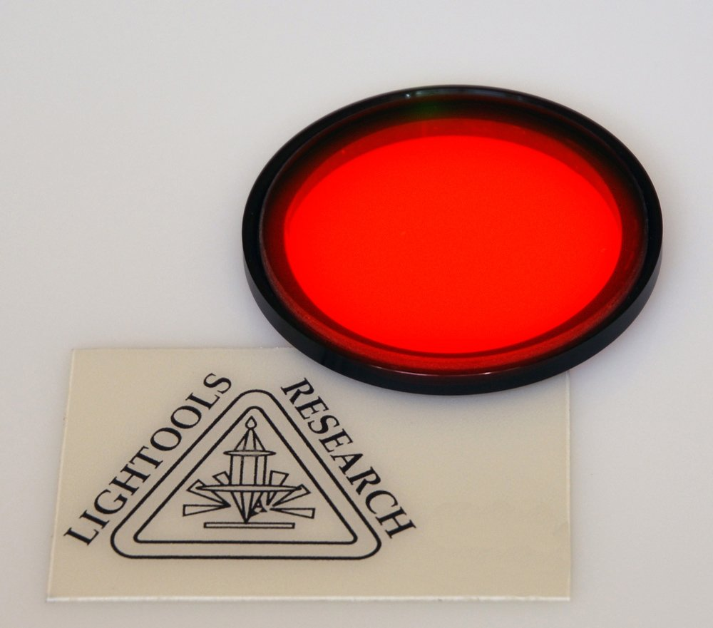 Lightools Research LT-9ZOOMFXRED Filter mounted for zoom lens red 590nm
