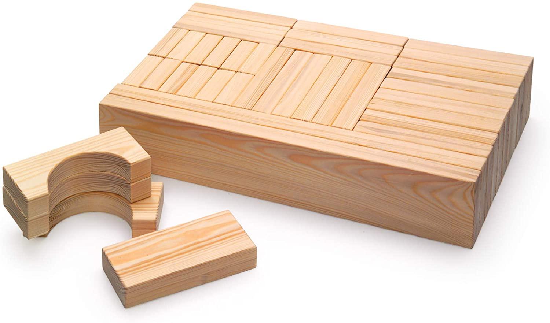 Erzi German Wooden Toy Maxi Blocks, 60 x 10 x 3.3cm