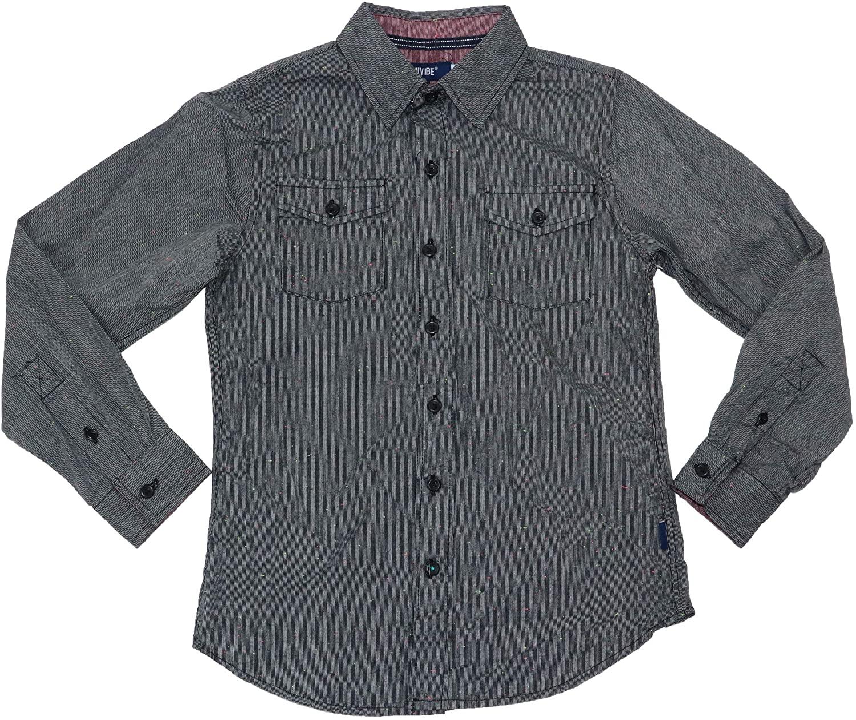 Univibe Big Boys Hudson Speckeled Button Down Shirt