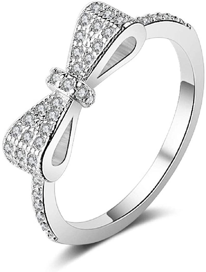 Aestgirl Butterfly Ring for Women Women's Ring for Birdal Engagement Ring AR105