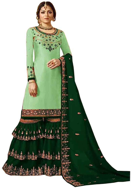 India Pakistani Bollywood Party Wear Anarkali Salwar Kameez Suit for Women Wear