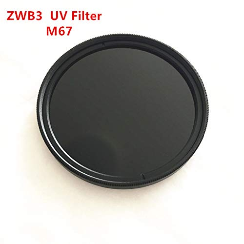M67 UV Pass Camera Filter ZWB3 UG5 U-330 with Metal Ring Ultraviolet Bandpass Black Glass