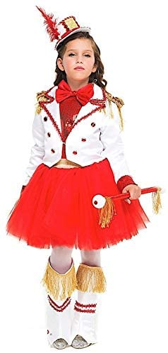 Italian Made Girls Deluxe Drum Majorette Cheerleader Dance Troupe Carnival Festival Fancy Dress Costume Outfit 3-10 Years