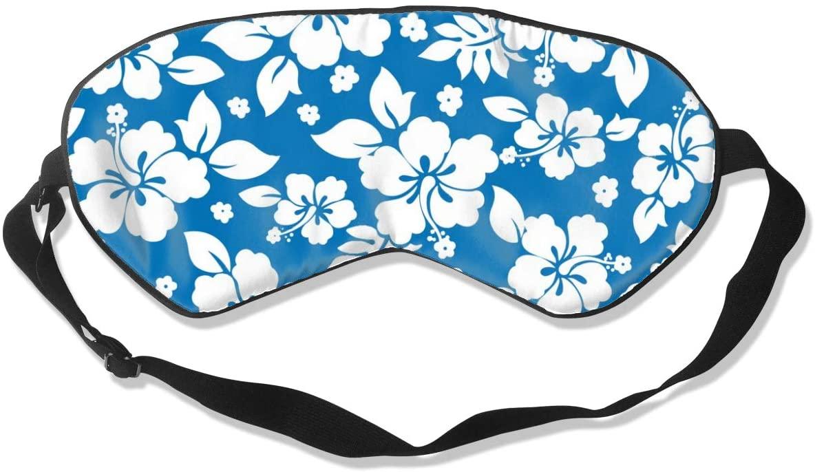 Sleep Eye Mask For Men Women,Hawaiian Flowers Soft Comfort Eye Shade Cover For Sleeping