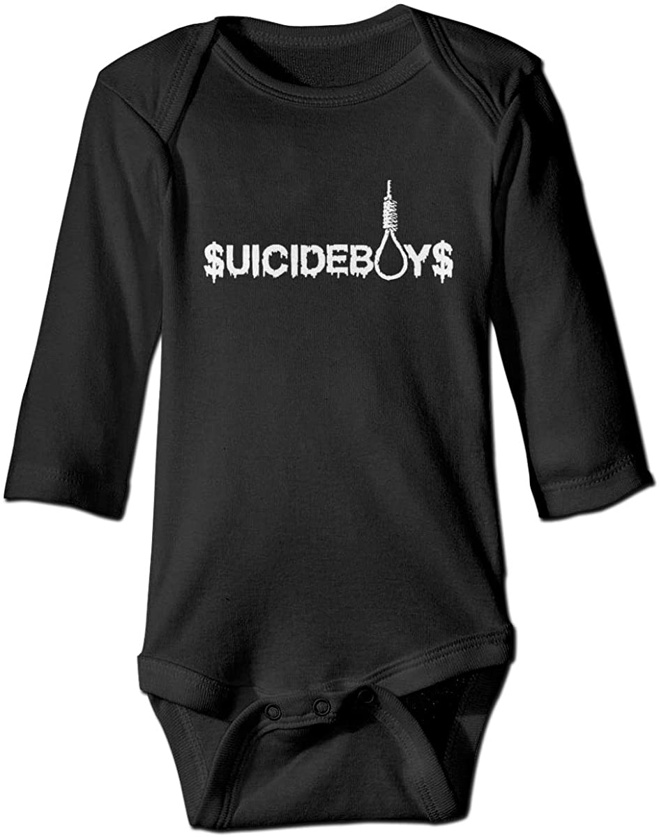 Smooffly Baby's Boy's and Girl's Newborn Toddler Suicide Boys Long-Sleeve Bodysuit Playsuit