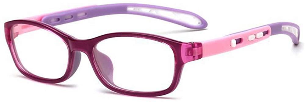 Fantia Unisex child Non-prescription Glasses Frame Clear Lens Kids Eyeglasses