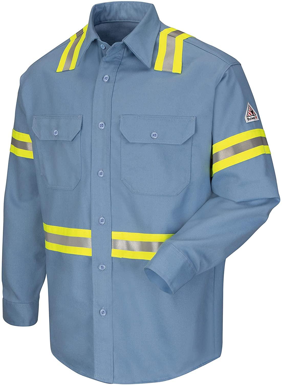 Bulwark Men's Enhanced Vis Uniform Shirt - Excel Fr - Big/Tall