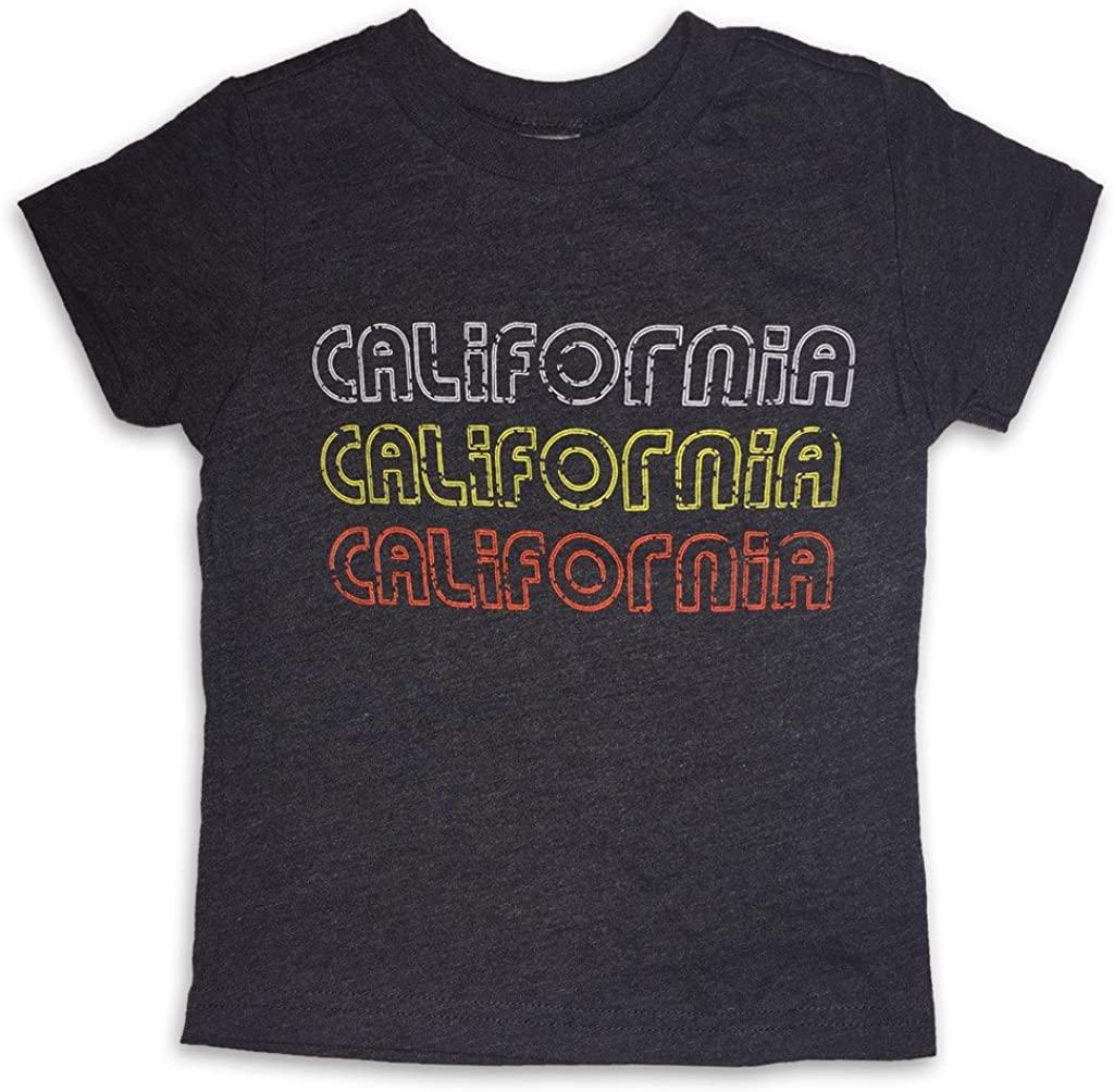 Sol Baby Retro California 3X Black Heather Crew Neck Infant/Toddler Tee