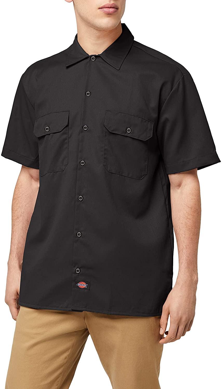 Dickies Men's Big-Tall Short-Sleeve Work Shirt,Black, 3XT
