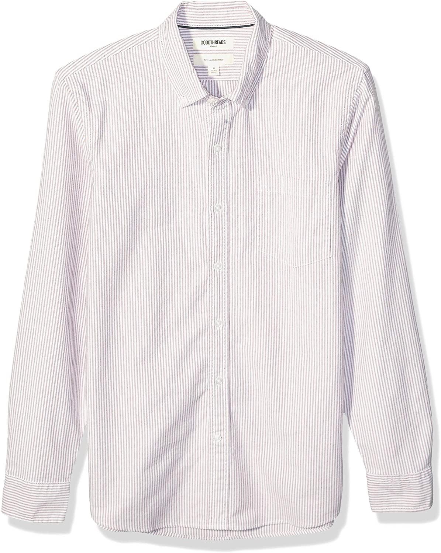 DHgate Brand - Goodthreads Men's Slim-Fit Long-Sleeve Striped Oxford Shirt
