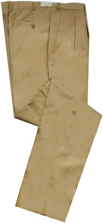 Brioni Men's Cannes Khaki 100% All Season Wool Pants