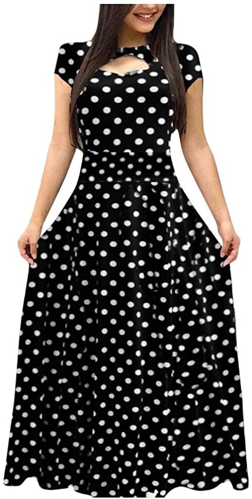 Women Long Sleeve Dresses SFE Fashion Floral Print Dots Boho Print Maxi Dress Formal Dress Dinner Dress Plus Size