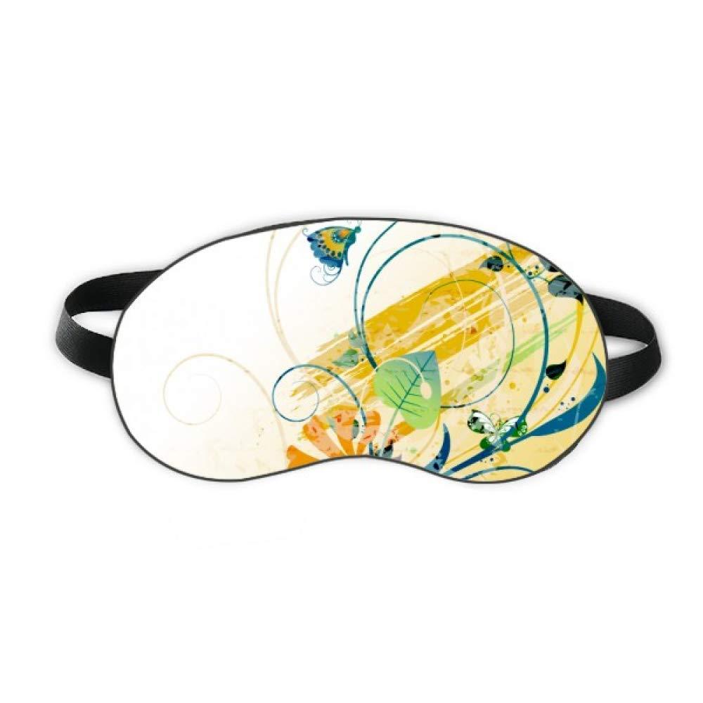 Elegant Butterfly Rural Flower Sleep Eye Shield Soft Night Blindfold Shade Cover