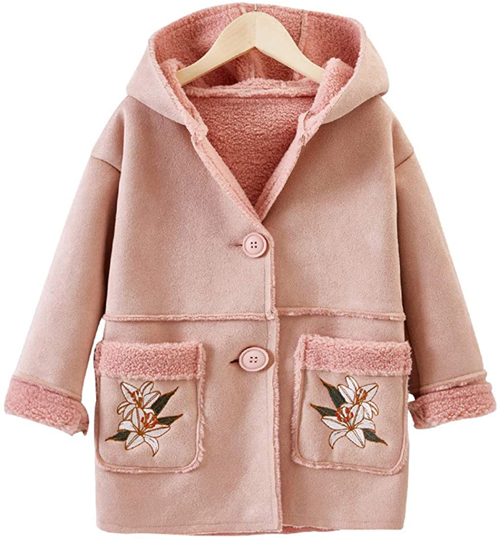 MV Clothing Foreign Woolen Girls Autumn Winter Children's Woolen Coat Korean Hooded