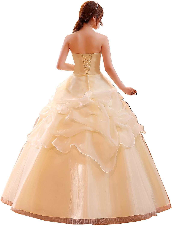 Shanghai Story Scalloped Neckline Ruffle Zipper Up Embroidery Wedding Dress