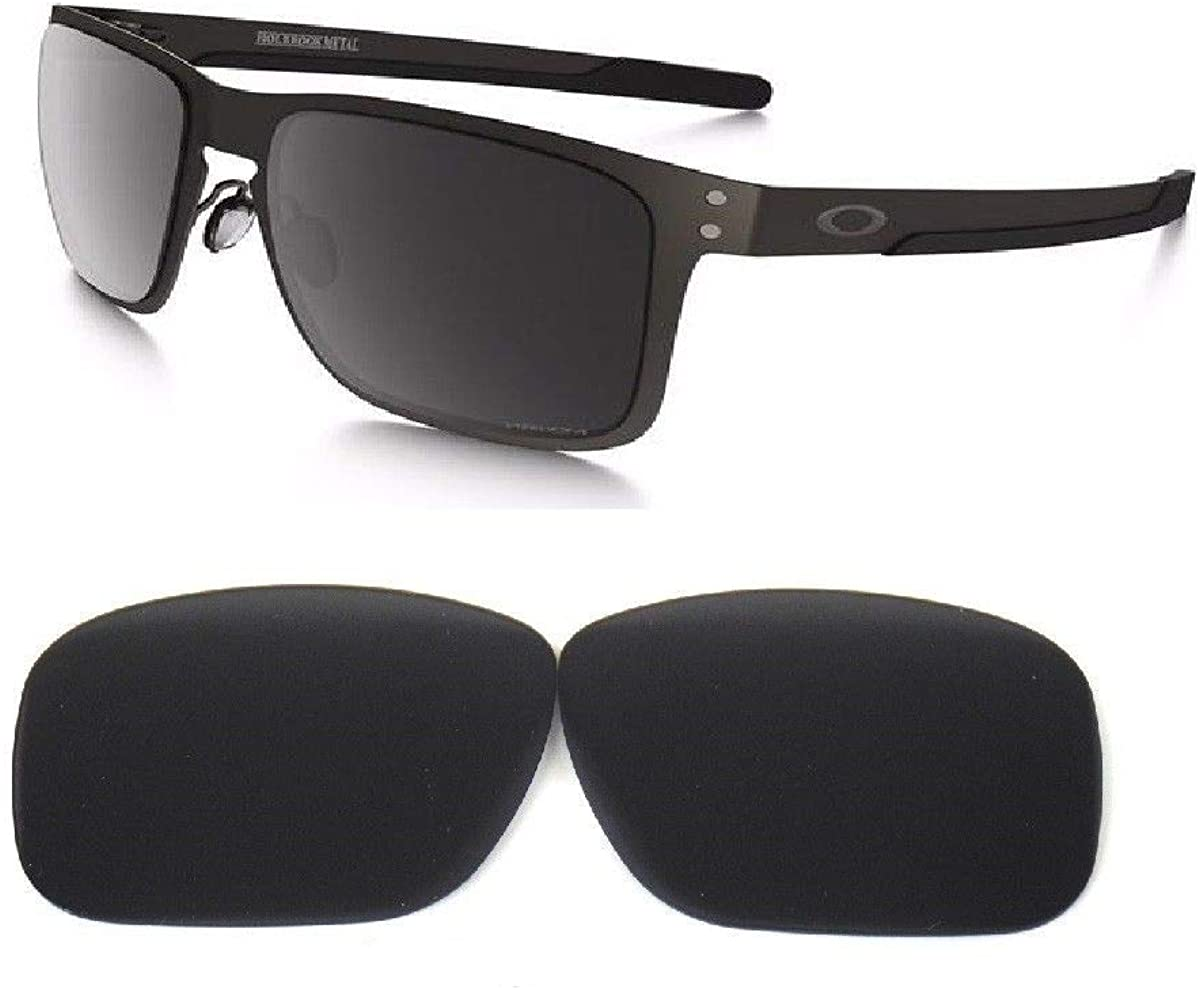 Galaxy Replacement lenses For Oakley Metal Holbrook OO4123 Only (Not Regular Holbrook) Polarized Black 100% UVAB