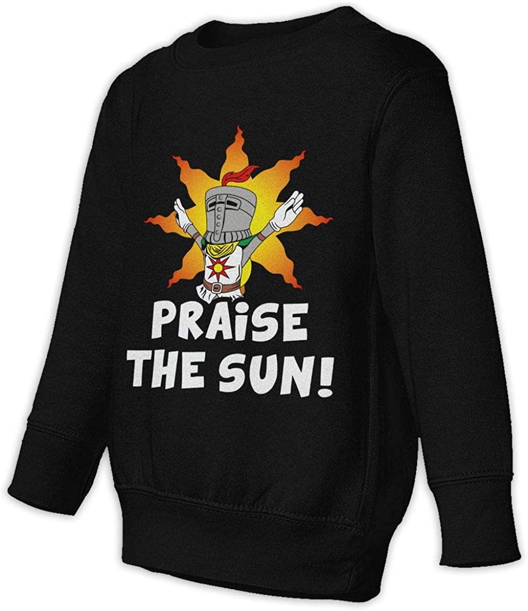 Praise The Sun Tarot Card Unisex Sweatshirt Youth Boy and Girls Pullover Sweatshirt Black