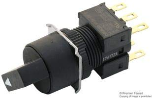 OMRON INDUSTRIAL AUTOMATION A165S-T2M-2 SELECTOR SWITCH, 5A, 125VAC