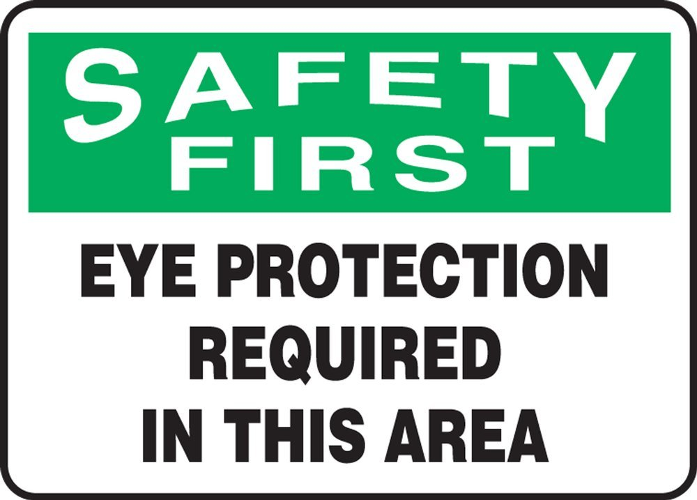 EYE PROTECTION REQUIRED IN THIS AREA (2 Pack)