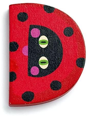 Djeco Animal Wooden Letter - D - ladybird