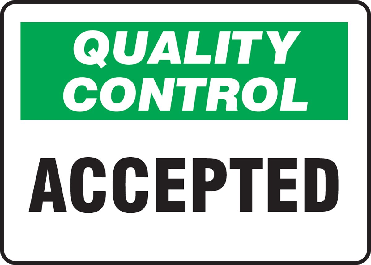 QUALITY CONTROL ACCEPTED (2 Pack)