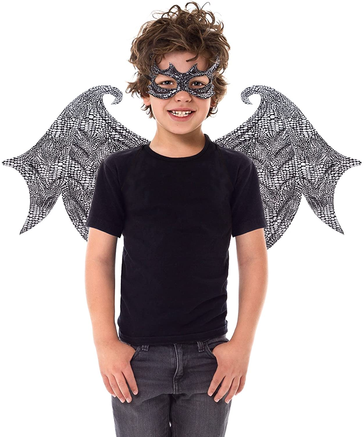 Little Adventures Reversible Dragon Mask and Wing Sets for Boys & Girls (Ages 3-8) (Black)