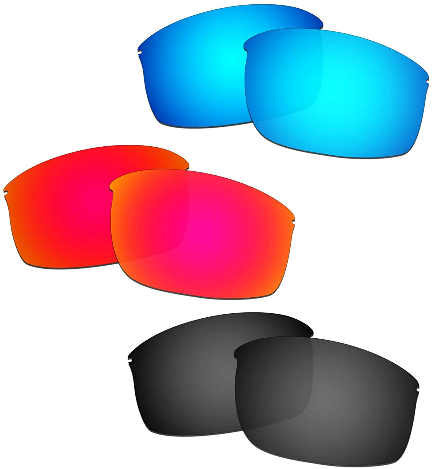 HKUCO Reinforce Replacement Lenses For Oakley Wiretap New Red/Blue/Black Sunglasses