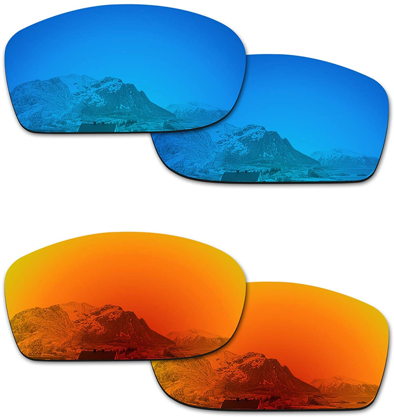 Puzzley Mirror Polarized Replacement Lenses for Oakley Fives Squared OO9238 Sunglasses - Rich Options
