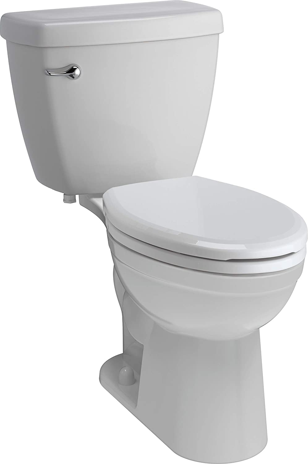 Delta Faucet C13905-S-WH Haywood Chair Height Elongated 1.28 GPF Toilet with Slow-Close Seat, White