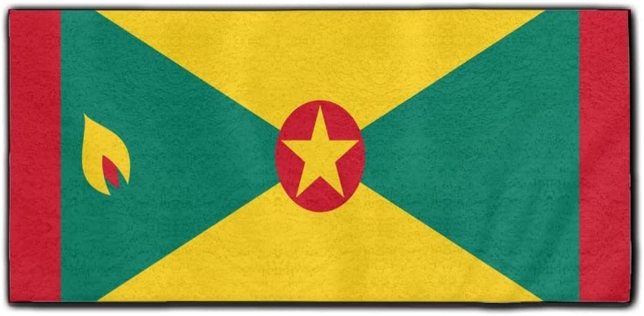 ChunLei Flag Of Grenada Washcloths Face Towel Hair Care Towel Gym And Spa Towel Kitchen Dish Towel