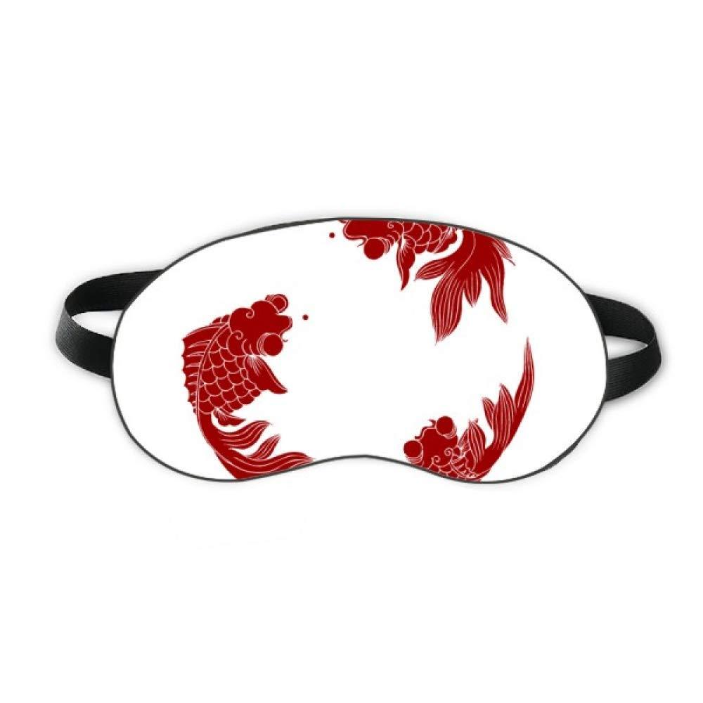 Red Cyprinoid Sleep Eye Shield Soft Night Blindfold Shade Cover