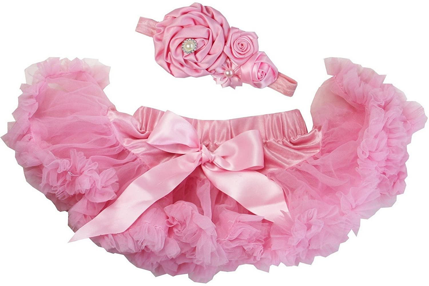 Kirei Sui Baby Light Pink Pettiskirt & Flower Headband Set