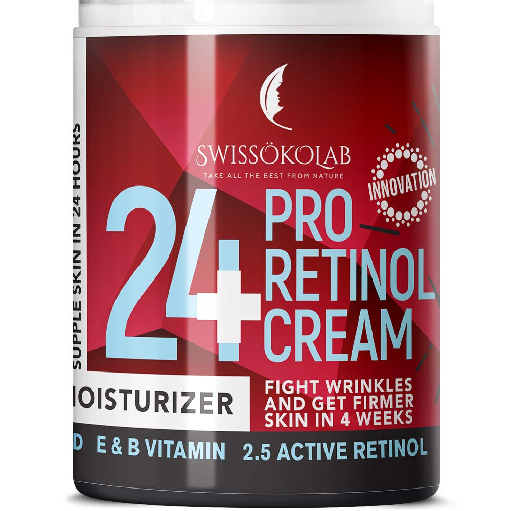 Retinol Cream for Face Eye Neck Area - Day & Night Retinol Moisturizer - Anti Aging Face Cream with 2.5% Active Retinol Hyaluronic Acid - Firming Anti Wrinkle Cream Men Women