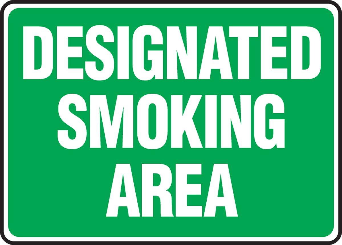 DESIGNATED SMOKING AREA (2 Pack)