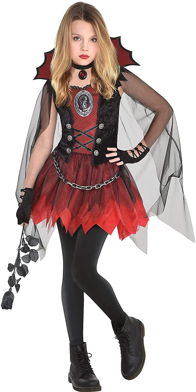 Girls Dark Vampire Costume- Small (4-6)- 3 pcs.