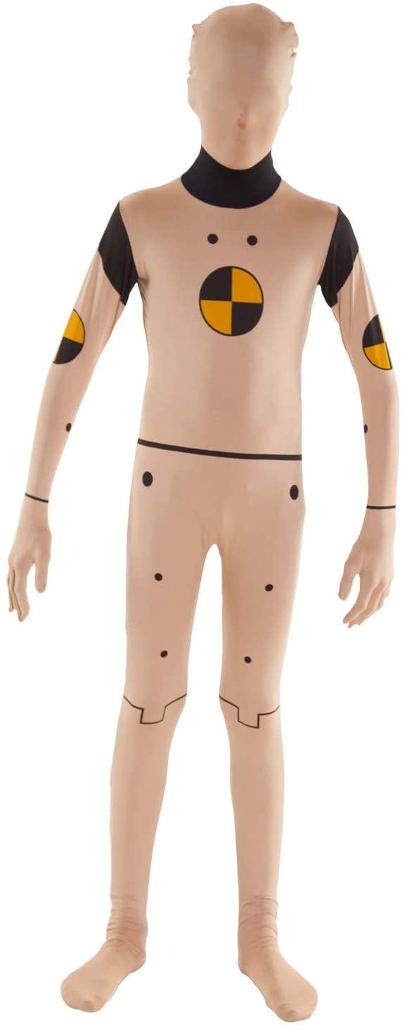 Morphsuits Kids Crash Test Dummy Fancy Dress Costume - Size Large 40 - 46 (120cm-137cm)