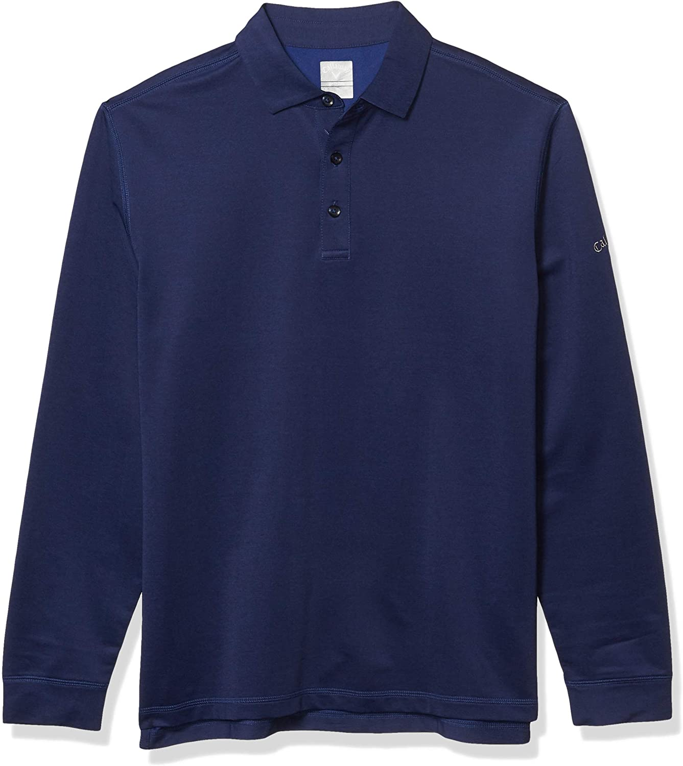 Callaway Mens Long Sleeve French Terry Heathered Solid Polo