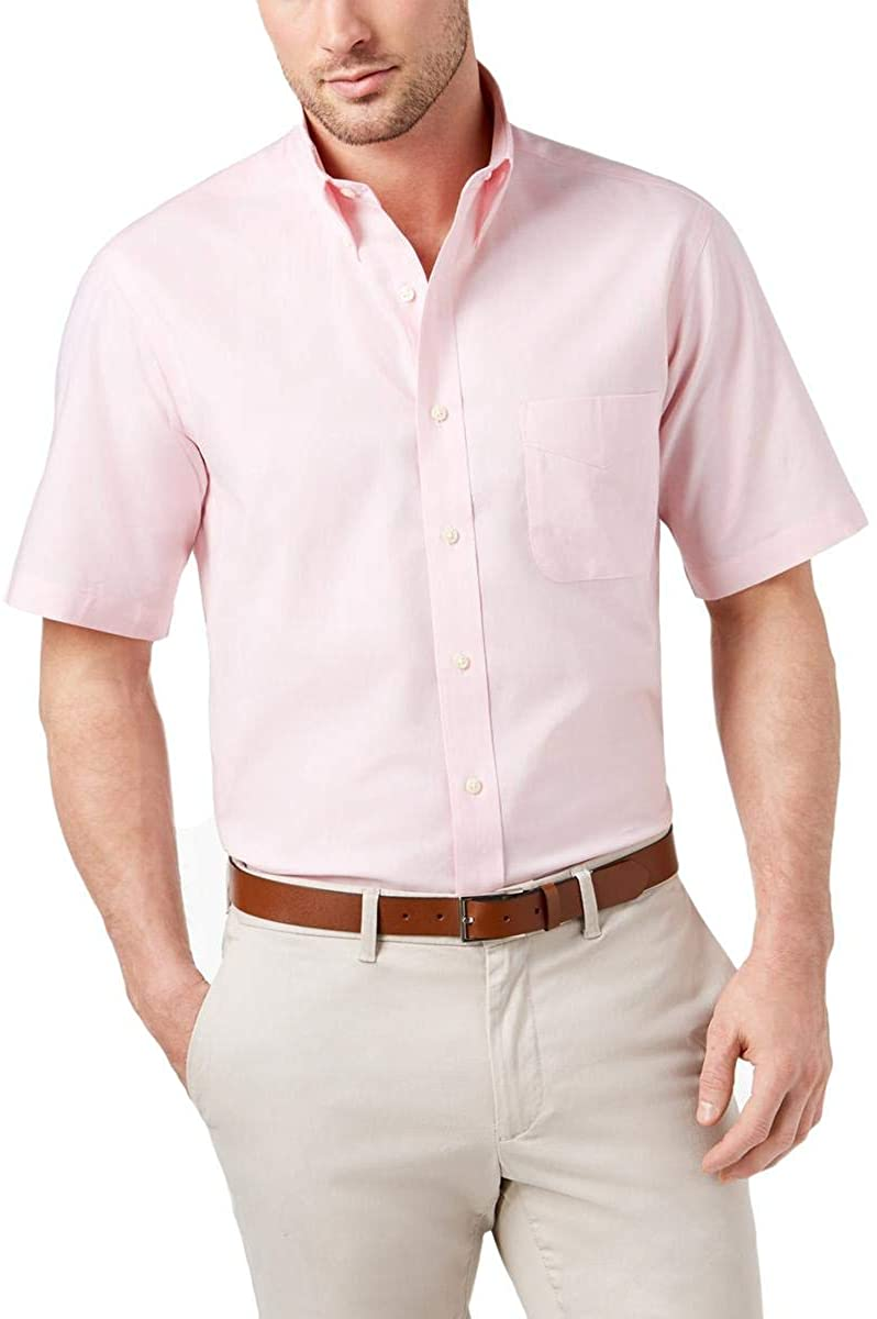Club Room Mens Wrinkle-Resistant Button Up Dress Shirt