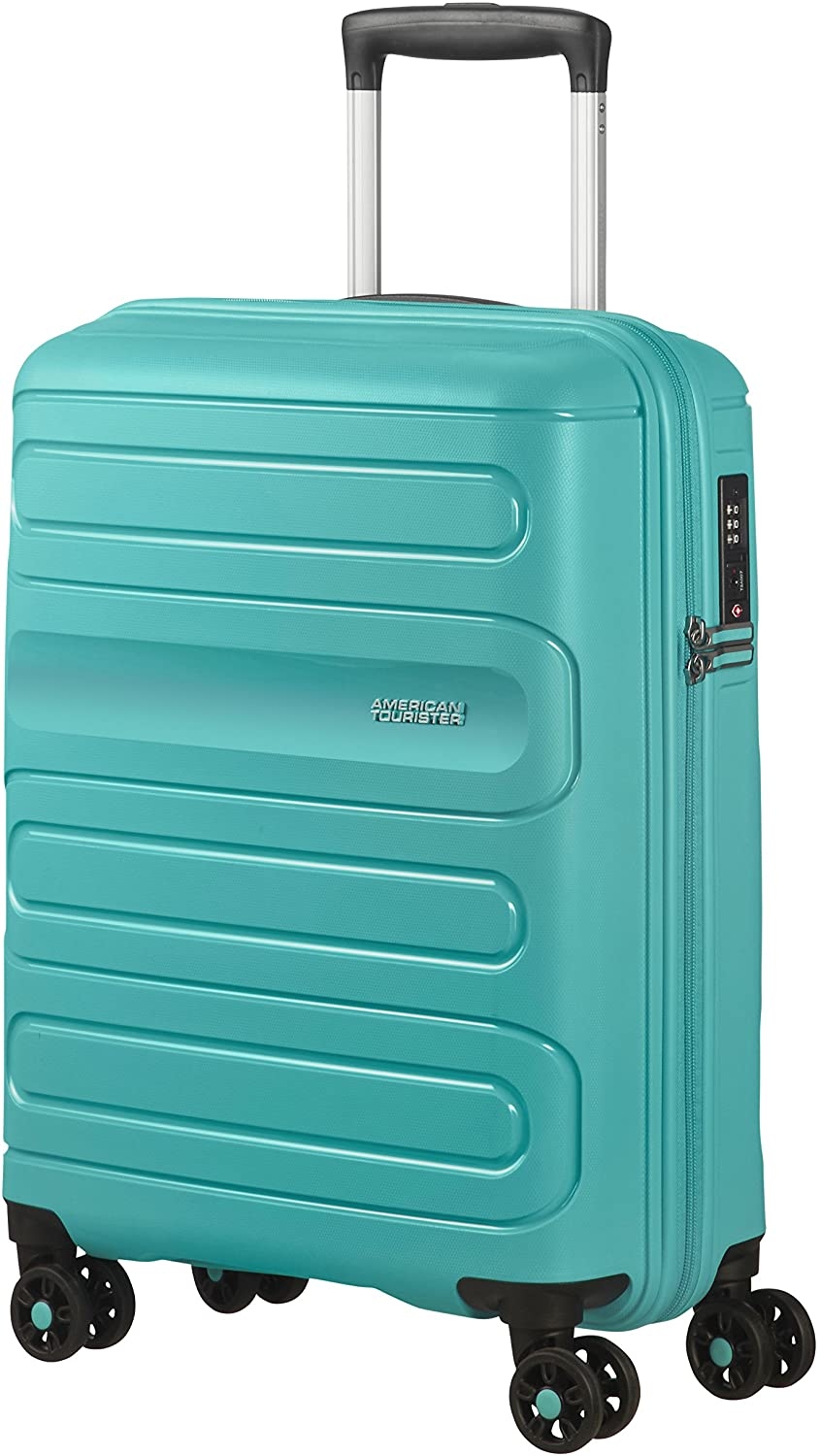 American Tourister Hand Luggage, Turquoise (Aero Turquoise), Spinner S (55 cm-35 L)
