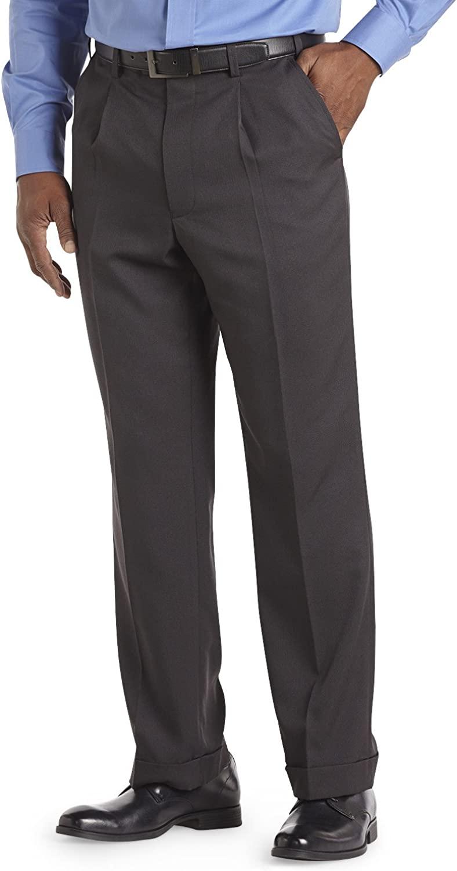 Gold Series DXL Big and Tall Sorbtek Pleated Waist-Relaxer Dress Pants