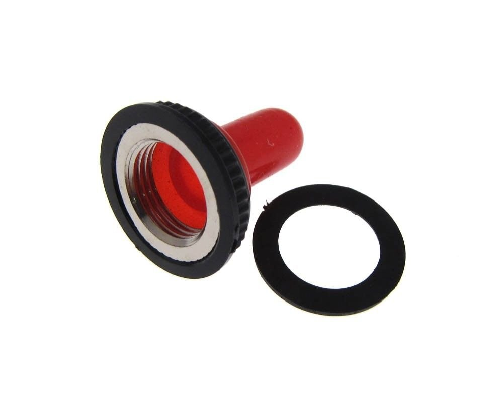 Waterproof Cap Sealing Boot for 12mm M12 Toggle Switch - Red