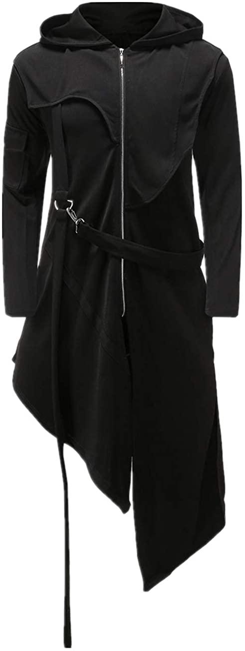 Crubelon Men's Steampunk Vintage Tailcoat Jacket Gothic Victorian Frock Uniform Halloween Costume