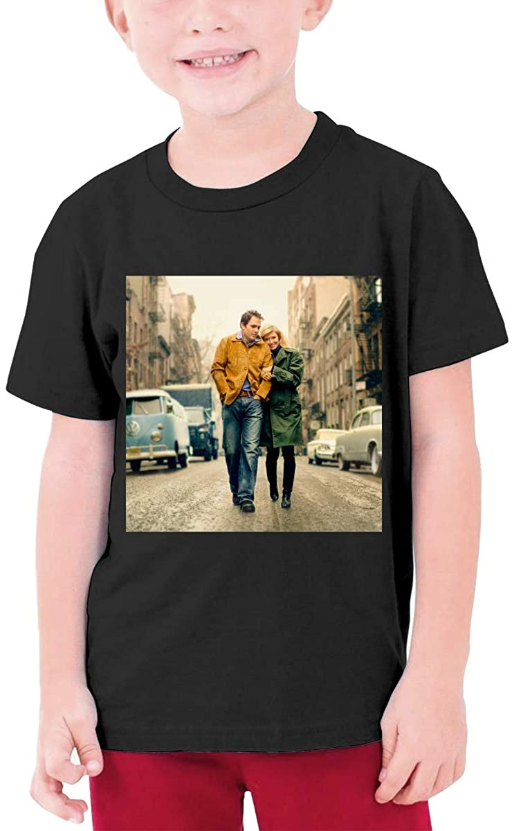 Bob Dylan T Shirt Kids Youth Fashion Short Sleeve for Boys and Girls
