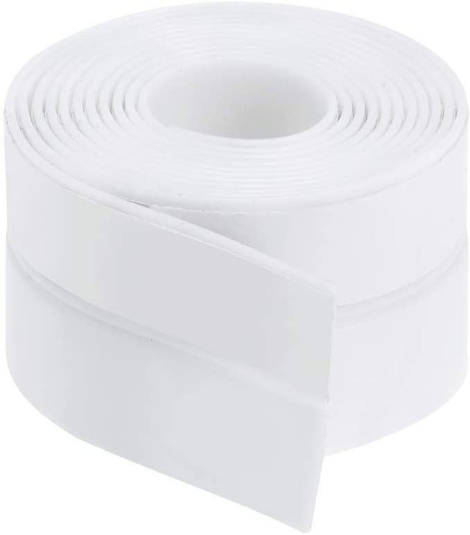 uxcell 25mm Width 1M Long Self Adhesive Weather Stripping Frameless Door Bottom Seal for Doors and Windows (White)